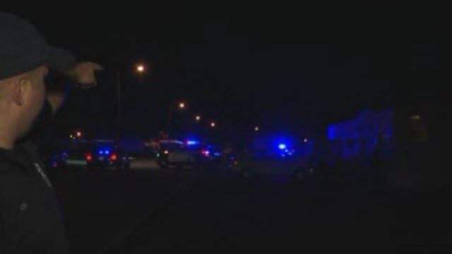Scene of shooting on Camden Street. (12/4/17 FOX Carolina)