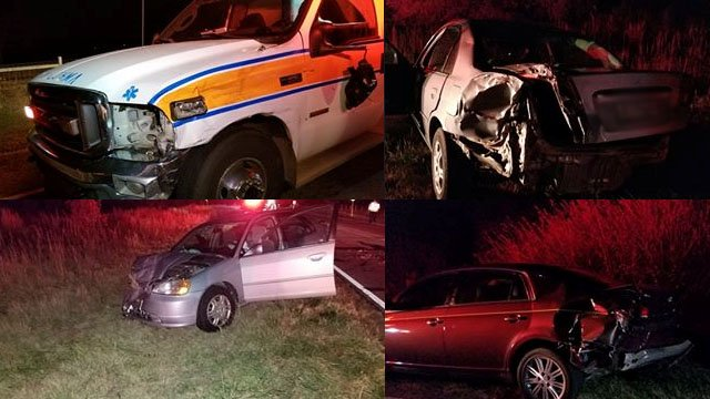 Ambulance crash in Laurens County (Viewer submitted photos)