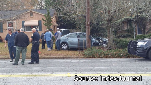 Photo showing where the crash ended (Source: Index-Journal)