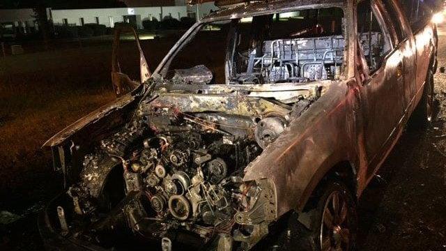 Truck fire along I-85 NB. (FOX Carolina/ 12/6/17)