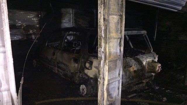 Scene of Spartanburg Co. fire. (FOX Carolina/ 12/6/17)