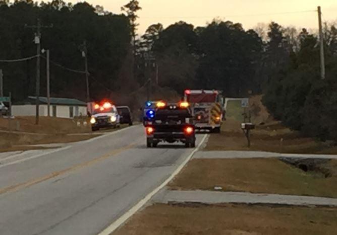 Scene of the crash (FOX Carolina/ Dec. 7, 2017)