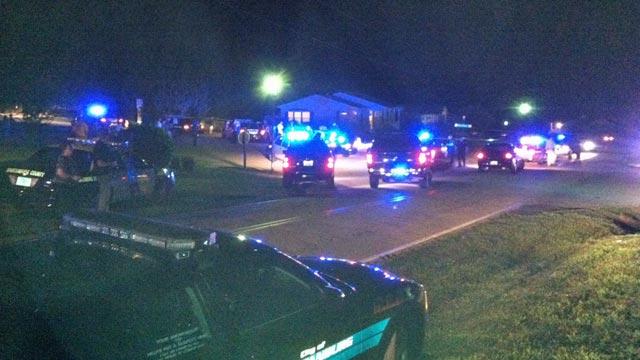 Scene of shooting in Boiling Springs. (Sept. 29, 2011/FOX Carolina)