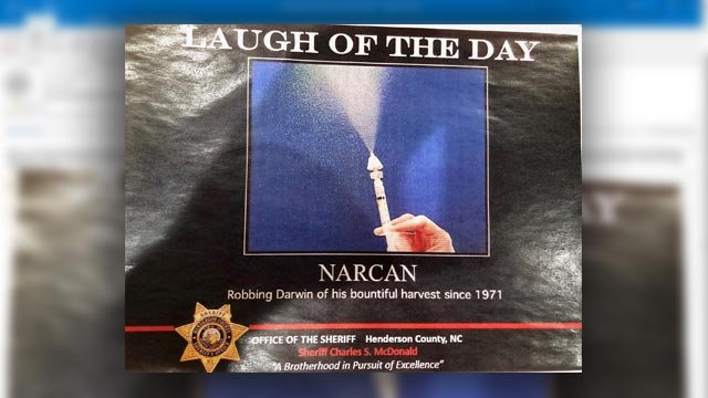 Narcan joke circulated in Henderson Co. Sheriff's Office interdepartmental email (Source: iWitness)
