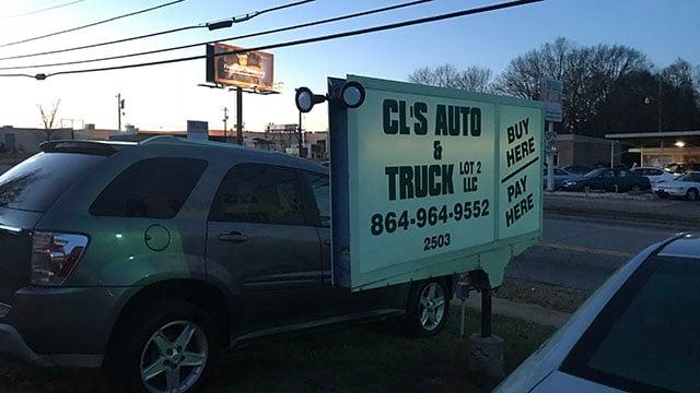 CL's Auto Sales (FOX Carolina/ 12/14/17)