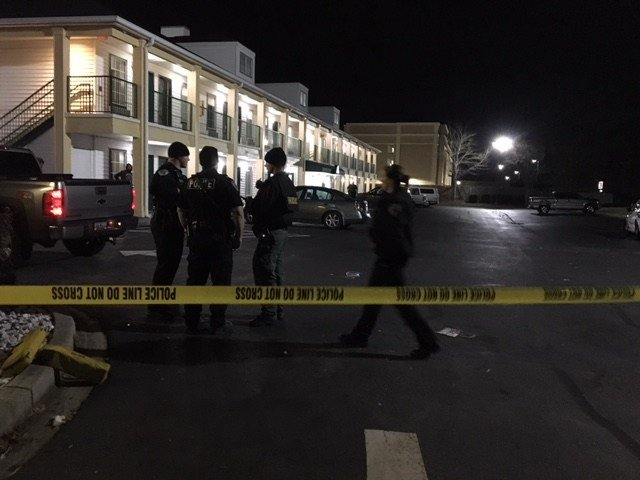Police on scene (FOX Carolina/ December 18, 2017)