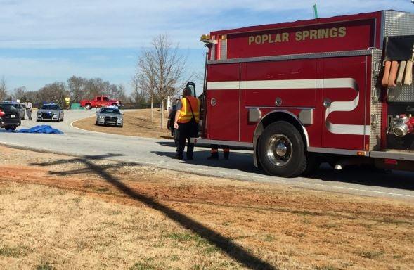 Scene of the deadly crash (FOX Carolina/ December 19, 2017)