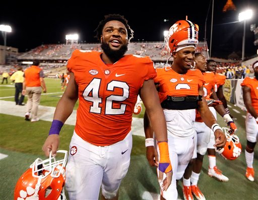 Clemson defensive lineman Christian Wilkins (AP Photo/John Bazemore)