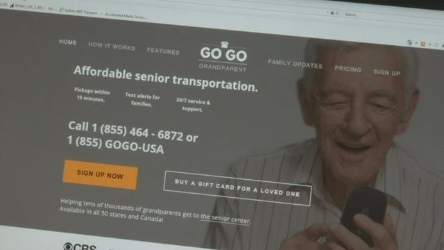 Go Go Grandparent books rides for elderly riders. (Dec. 19, 2017)
