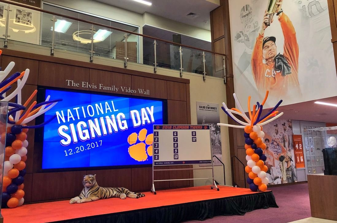 Clemson Early Signing Day (Source: Clemson Football/ Twitter)
