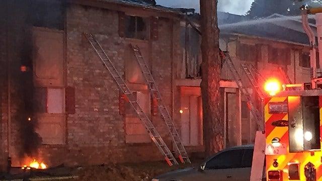 Scene Of Apartment Fire In Spartanburg. (12/24/17 FOX Carolina)
