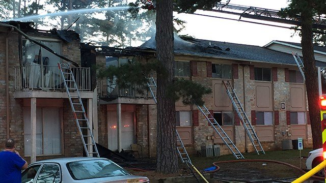 Scene of apartment fire in Spartanburg