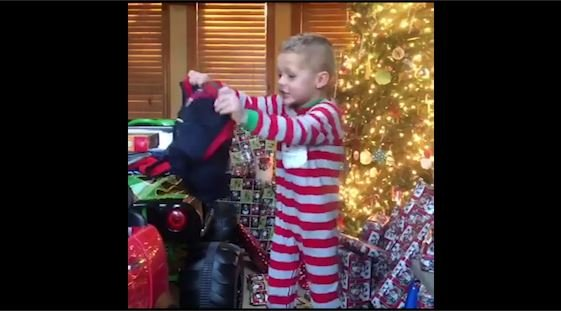 MUST WATCH: Gaffney boy is super excited to unwrap a Deshaun Watson jersey