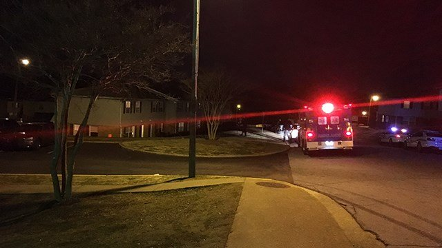 Scene of stabbing at Shemwood Crossing. (12/26/17 FOX Carolina)