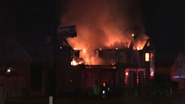 Scene of house fire on Birkhall Circle. (Credit: David Millard)