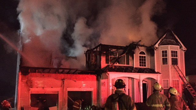 Scene of house fire on Birkhall Circle. (12/26/17 FOX Carolina)