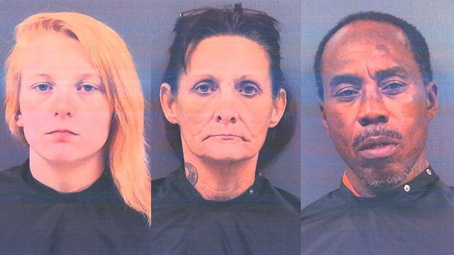 Left to right: Taylor Phipps, Donna Fowler and JW Sullivan Jr. (Source: CCSO)