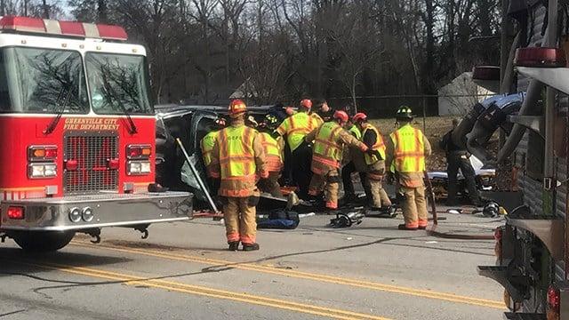 Rollover crash on Rutherford Road (Dec. 27, 2017/FOX Carolina)