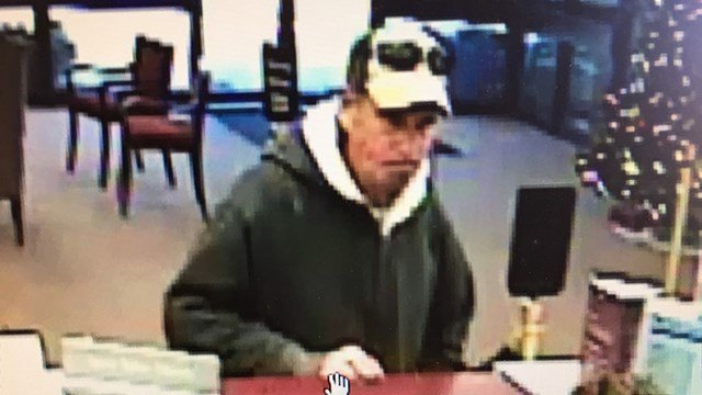 Suspect in BB&T robbery (Source: GCSO)