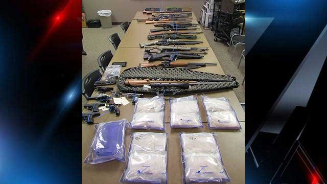 24 pounds of meth, guns and cash were seized in the investigation. (Source: McDowell Co. Sheriff's Office).