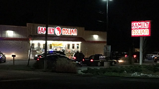Law enforcement on scene after armed robbery at Greenville Co. Family Dollar (FOX Carolina/ 12/28/17)