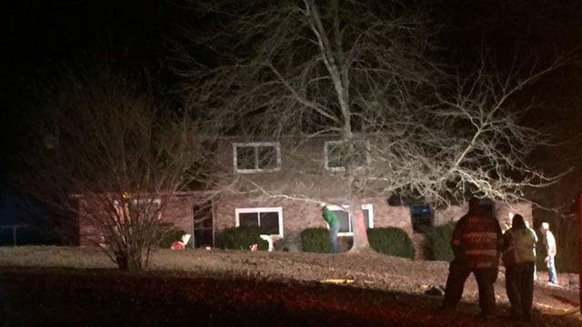 Scene of house fire in Westminster (FOX Carolina/ 12/28/17)