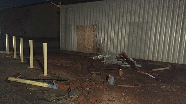 Car damages building at New Prospect Baptist Church. (12/31/17 FOX Carolina)