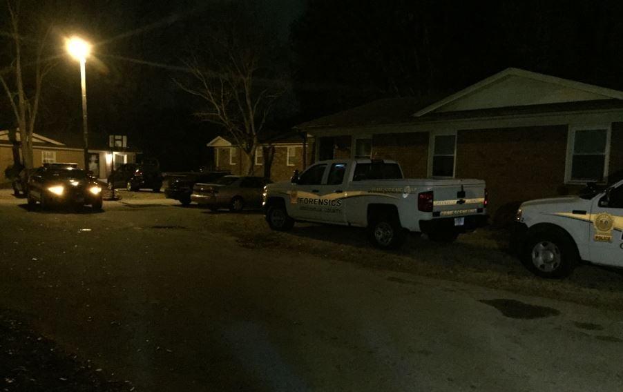 Investigators on Rasor Court, where the shooting occurred (Jan. 1, 2018/ FOX Carolina)