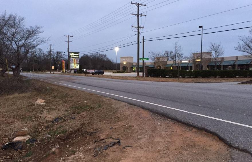 Area where the deadly crash occurred (FOX Carolina/ Jan. 1, 2018)