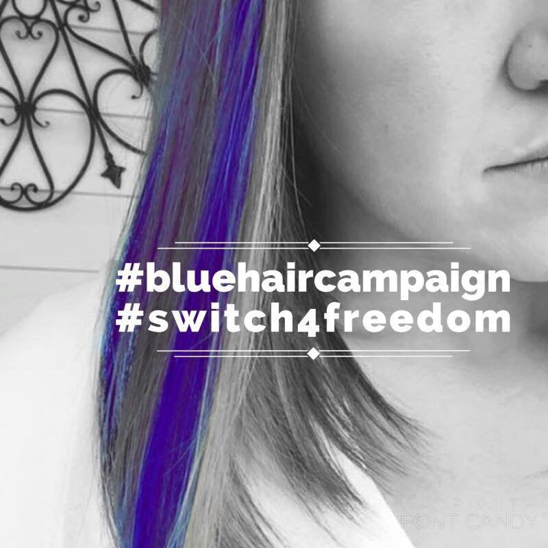 Switch launches blue hair campaign to raise awareness about human trafficking (Source: Switch).