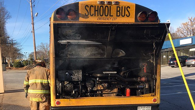 School bus engine fire (Source: Anderson District 5)