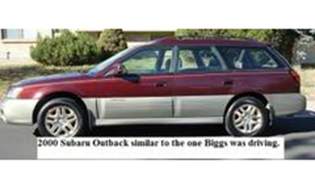 2000 Subaru Outback similar to the one Biggs was last seen driving (Source: Rutherford County Sheriff's Office)