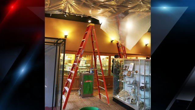 Damage inside the museum (Source: Clemson)