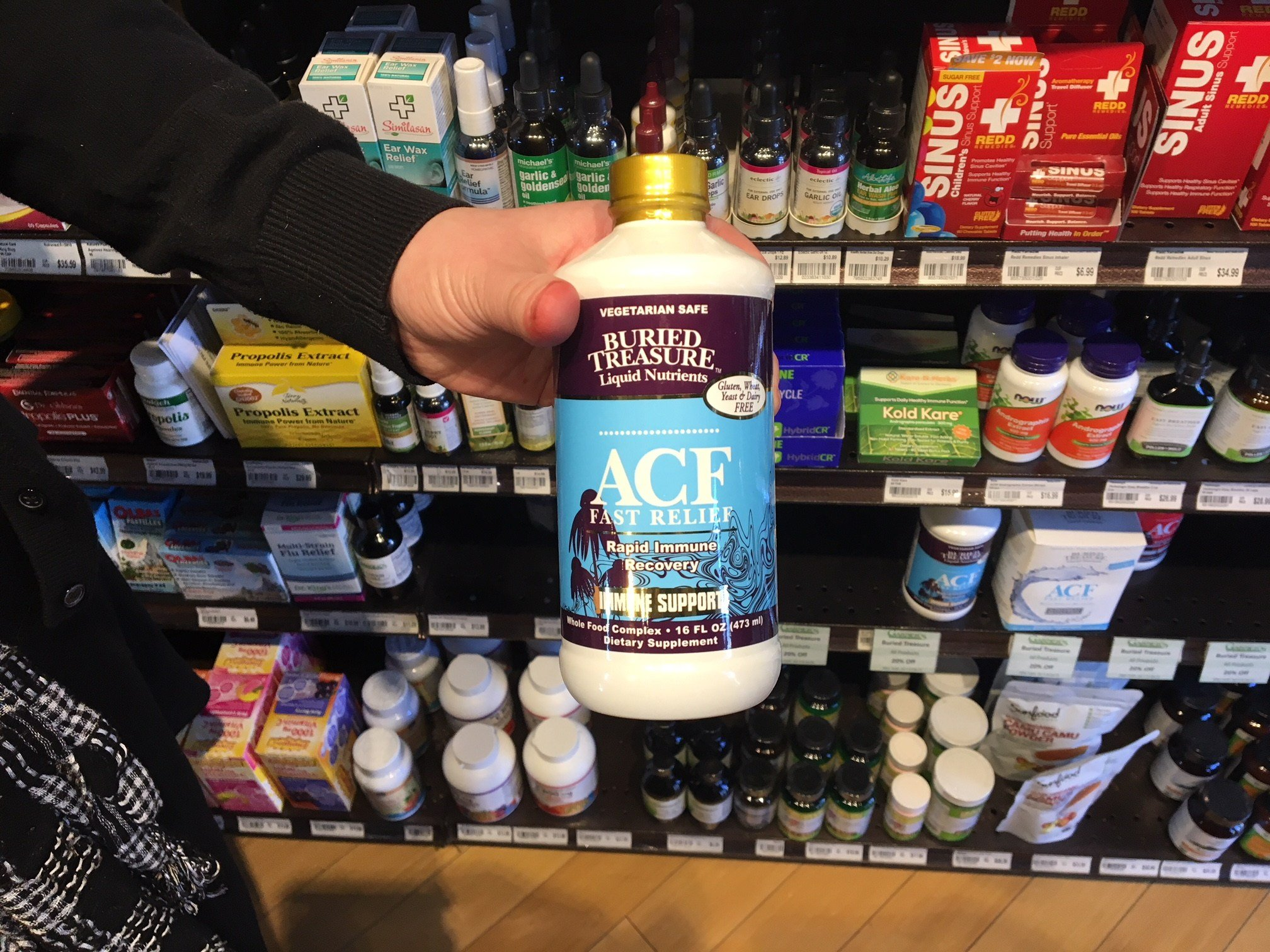 Garner's Natural Life said ACF is a popular product during cold and flu season (FOX Carolina: 1/5/18).
