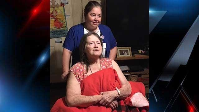 Elizabeth Vaughn with her Home Health nurse Sheri Lunsford. (FOX Carolina/Jan. 5, 2018).