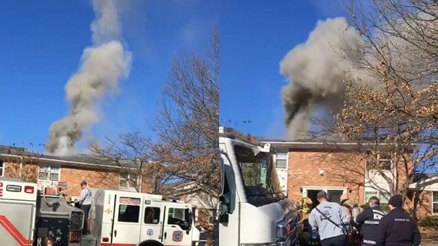 Fire at Magnolia Townhomes. (1/6/18 FOX Carolina)