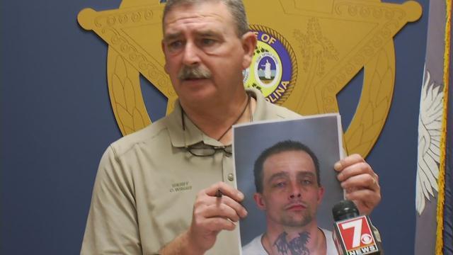 Sheriff Chuck Wright announces murder arrest (Jan. 9, 2018/FOX Carolina)
