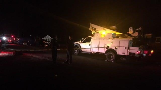 Scene of collision on Gowan Road. (1/9/18 FOX Carolina)