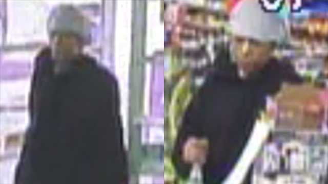 The suspect was caught on surveillance footage. (Source: GCSO).