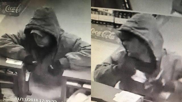 Suspect in Franklin Co. bank robbery (FOX Carolina/ 1/12/18)