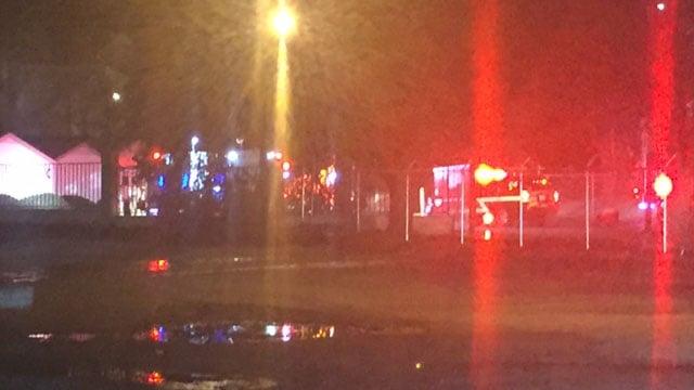 Fire at storage facility in Spartanburg Co. (FOX Carolina/ 1/13/18)