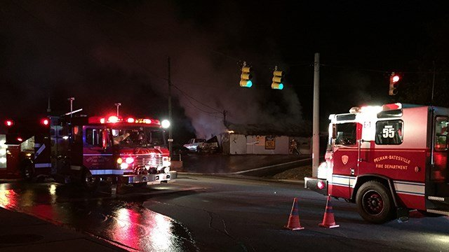 Fire at Doug Hall Garage. (1/14/18 FOX Carolina)