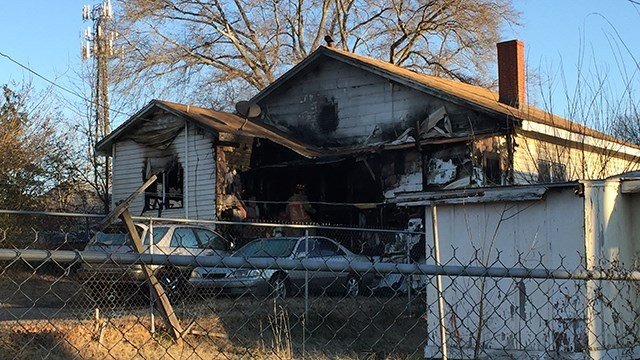 House fire in Hayne Street. (1/14/18 FOX Carolina)