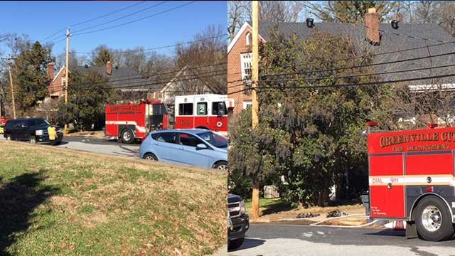 Crews on scene at Atwood Street. (FOX Carolina/Jan. 15, 2018).