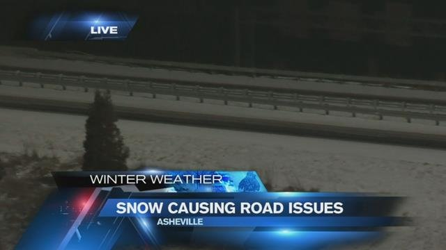 Snow blankets Asheville Wednesday morning