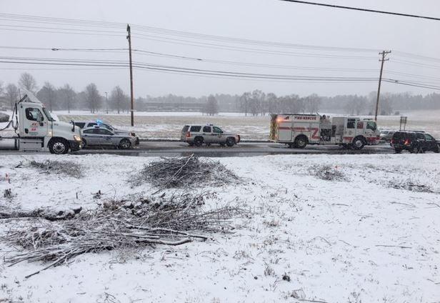 Scene of the deadly crash (FOX Carolina/ Jan. 17, 2018)