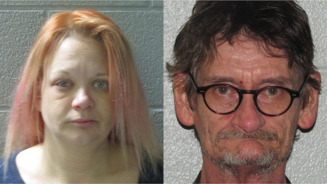 Tina Marie Smith (left) and Larry Gene Cantrell (right) (Source: HCSO)