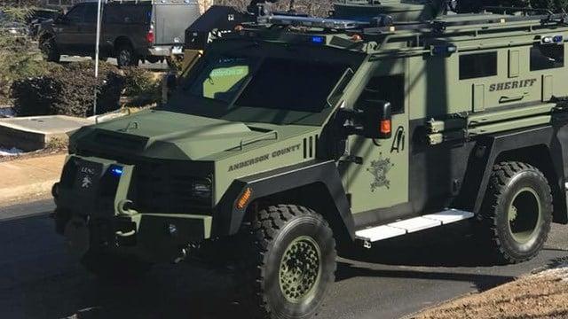 SWAT on scene of Anderson shooting (Source: Tonya Penry)