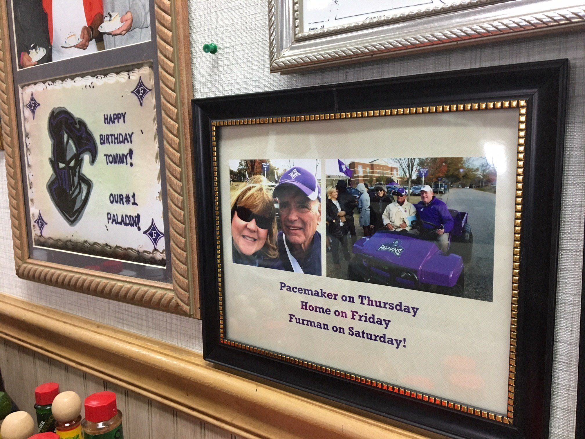 Just two days after getting a pacemaker installed, the owner of Tommy's Country Ham House and Furman graduate, cheered on the Paladins at home (FOX Carolina: 1/18/2018).