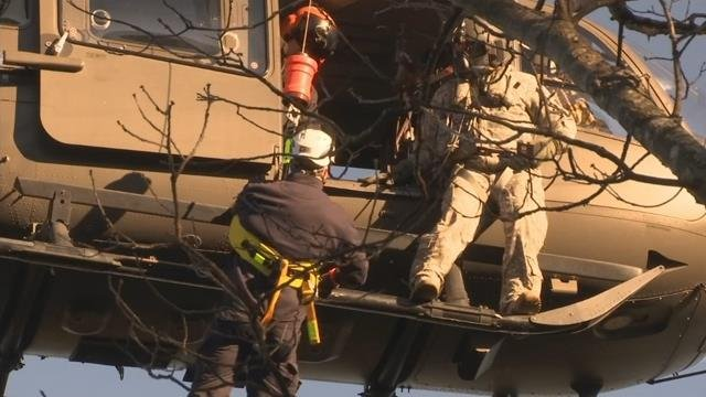 Exclusive look at helicopter training for Upstate emergency officials and SC Nat'l Guard